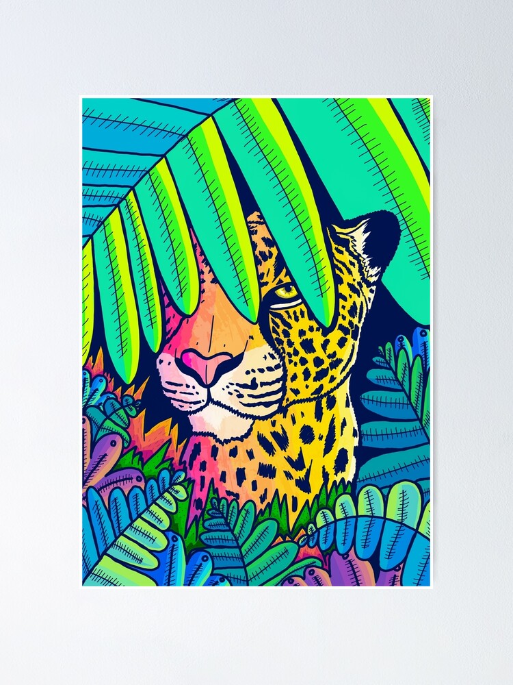 Alternate view of Jungle leopard Poster