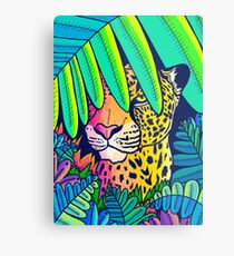 Jungle leopard Metal Print