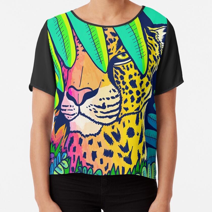 Jungle leopard Chiffon Top