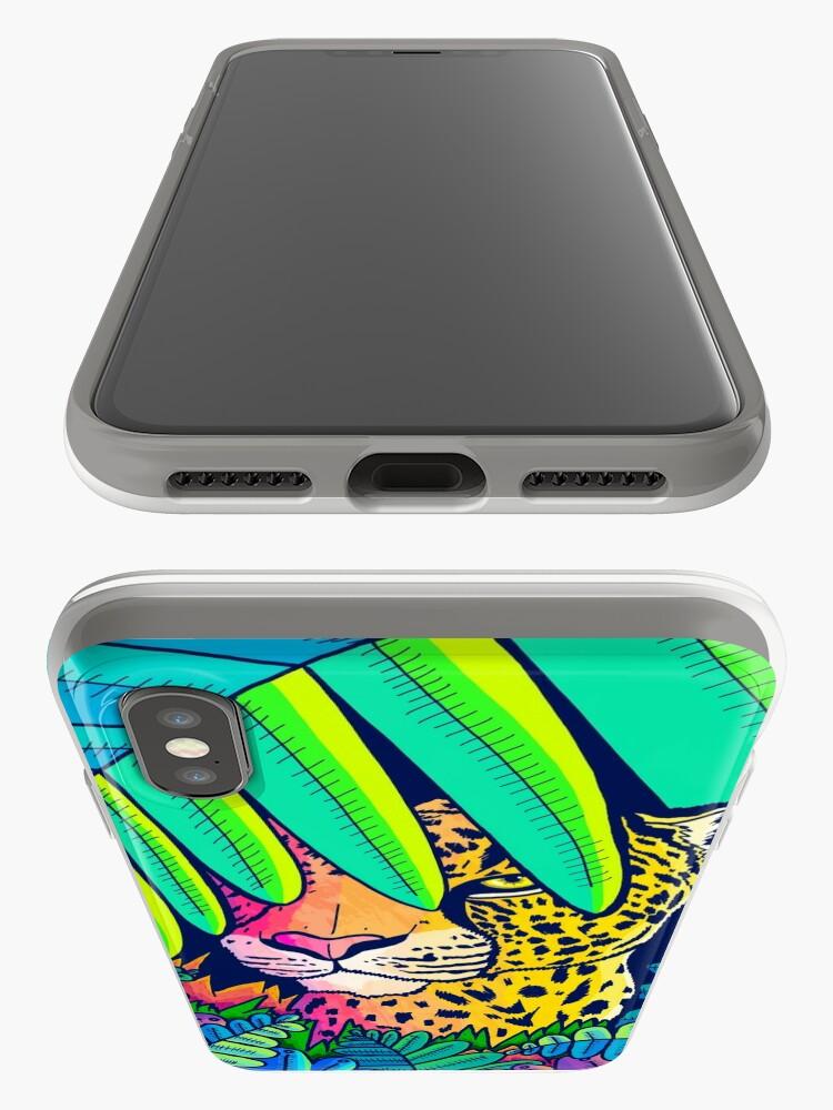 Alternate view of Jungle leopard iPhone Case & Cover