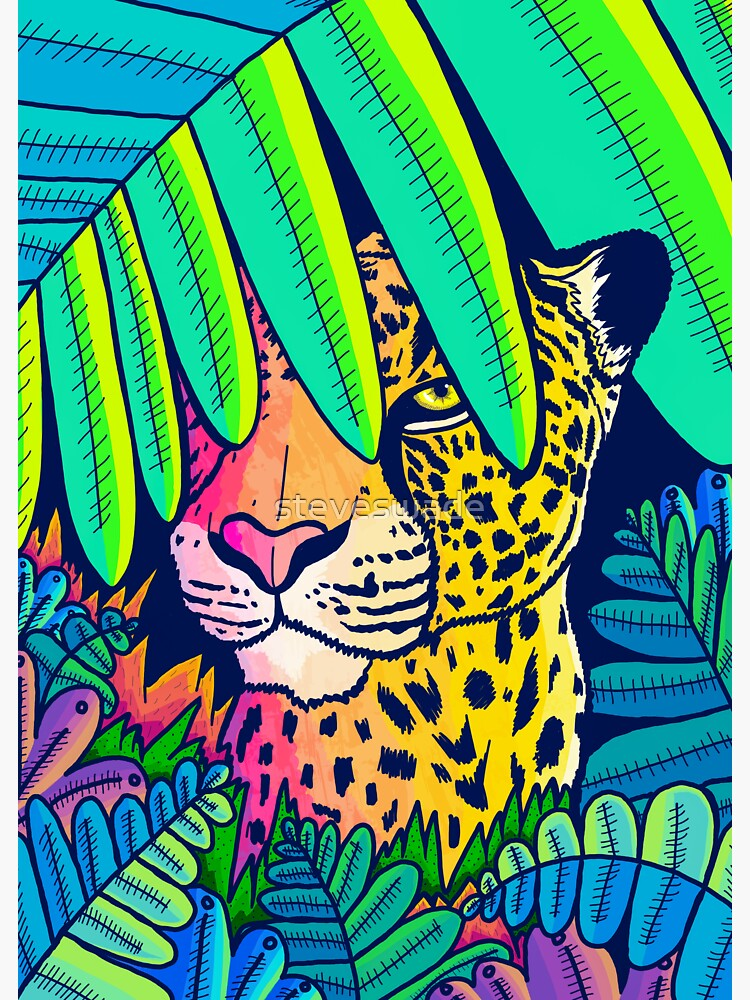 Jungle leopard by steveswade