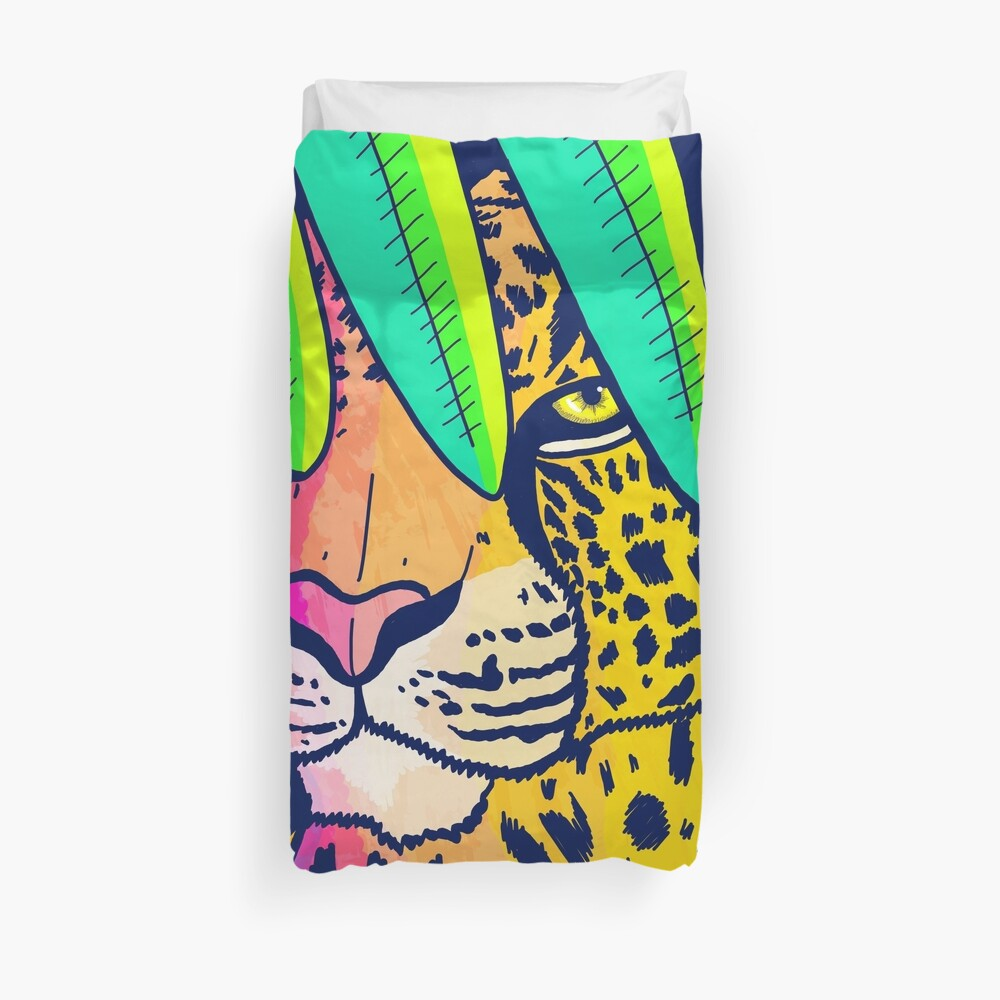Jungle leopard Duvet Cover