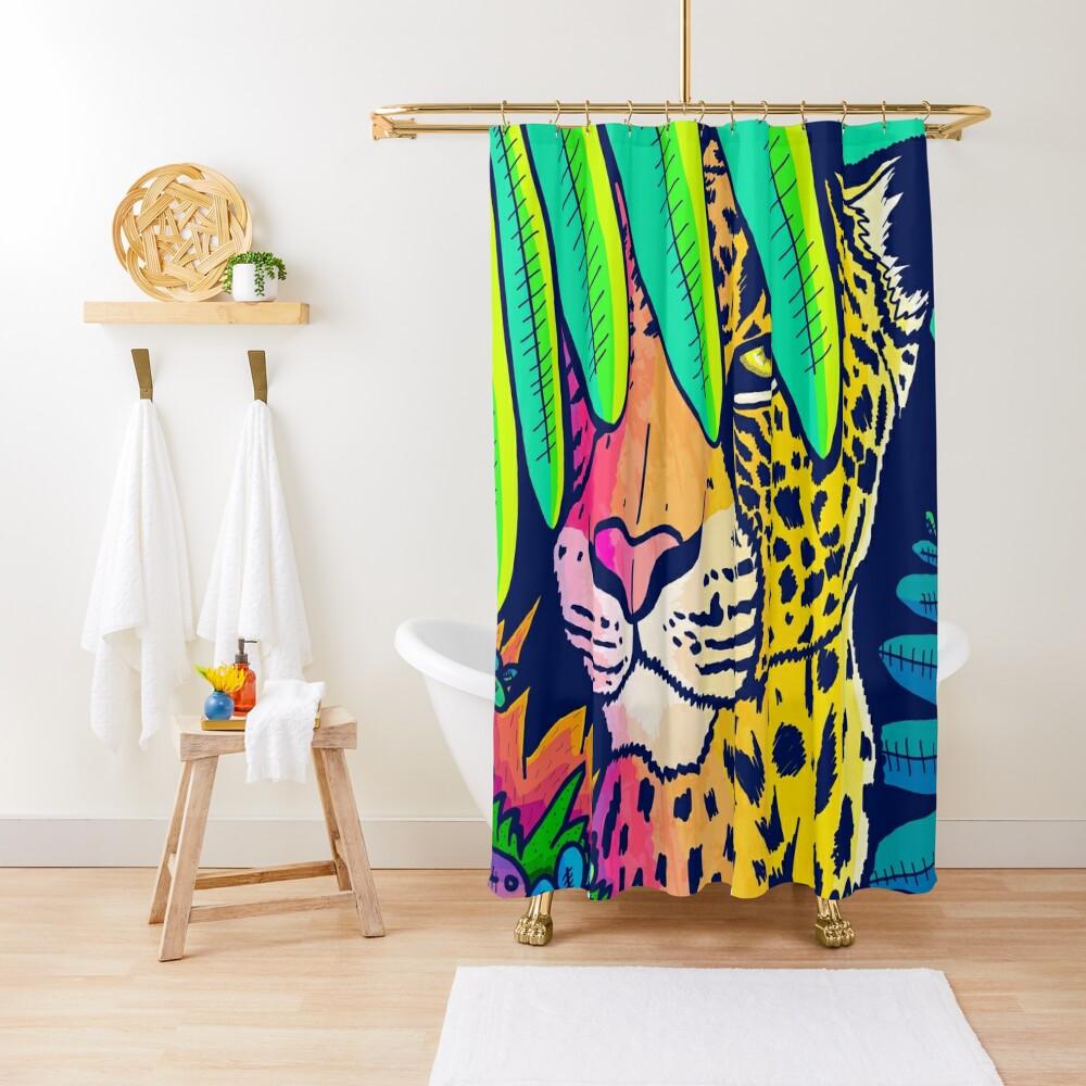 Jungle leopard Shower Curtain