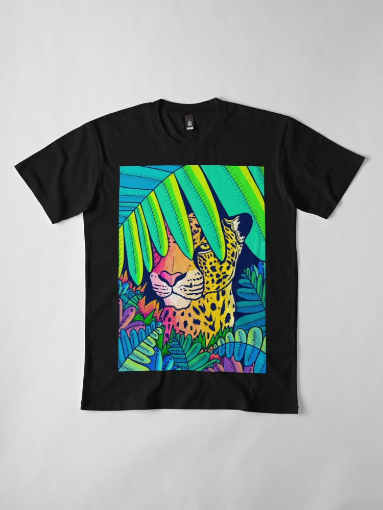 Alternate view of Jungle leopard Premium T-Shirt