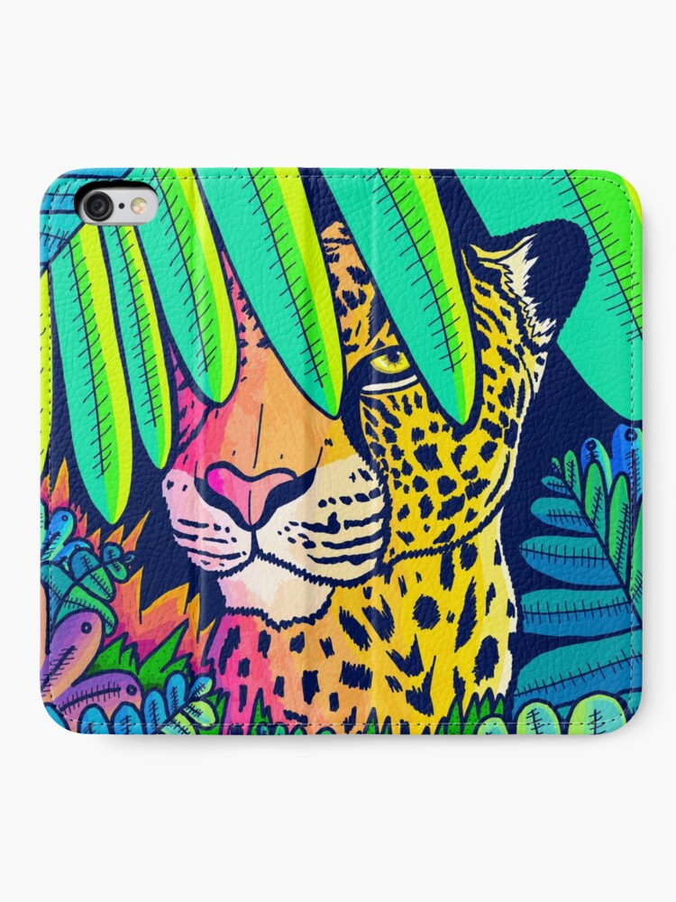 Alternate view of Jungle leopard iPhone Wallet