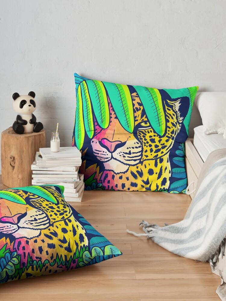 Alternate view of Jungle leopard Floor Pillow