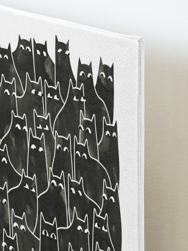 Alternate view of Suspicious Cats Mounted Print
