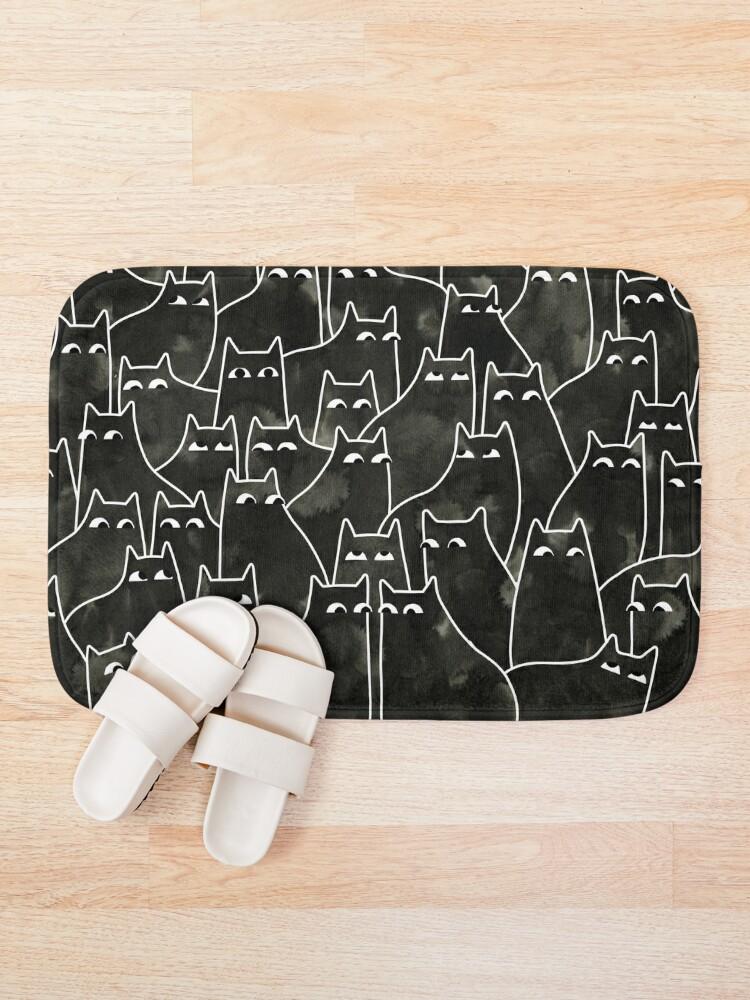 Alternate view of Suspicious Cats Bath Mat