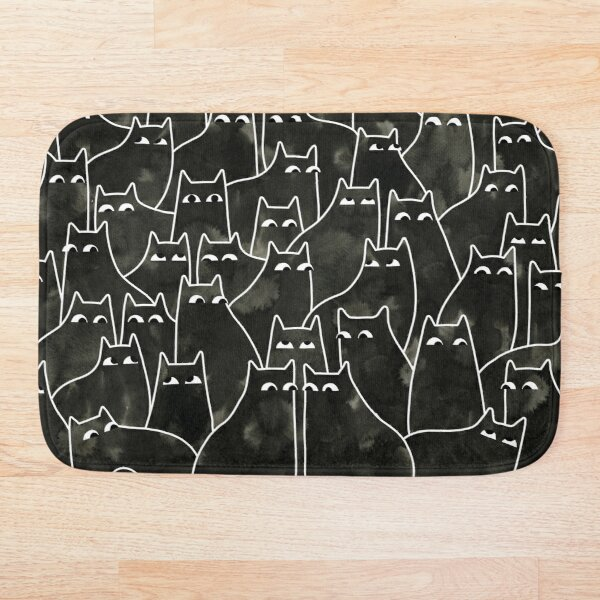 Suspicious Cats Bath Mat
