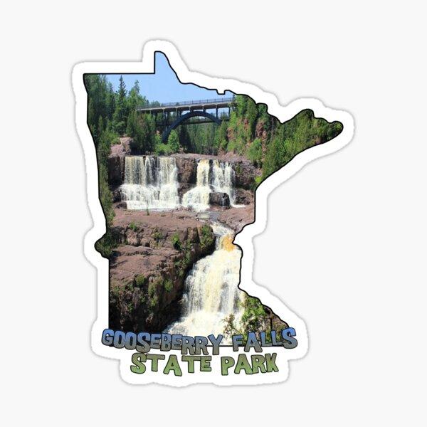 Minnesota State Outline (Gooseberry Falls State Park) Sticker
