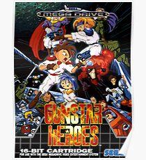 Gunstar Heroes Mega Drive Cover Poster