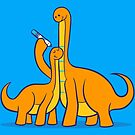 Dinosaur Growth Chart (Orange Dinos) by RyanAstle