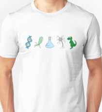 Cute Science - On White Slim Fit T-Shirt
