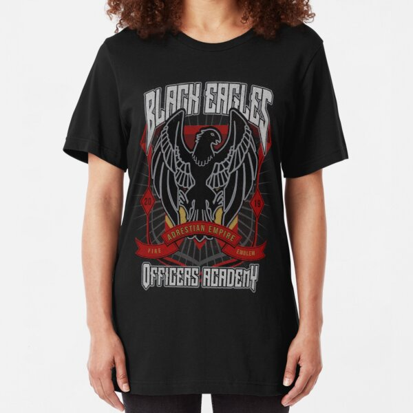 Black Eagles Crest Slim Fit T-Shirt