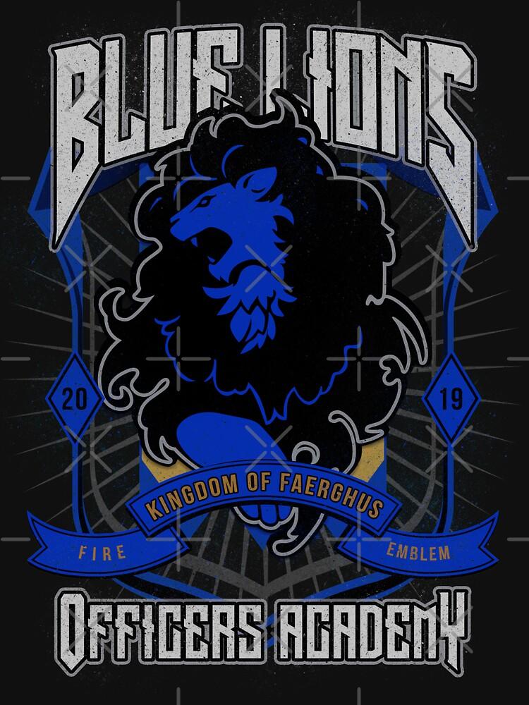 Blue Lions Crest by ursulalopez