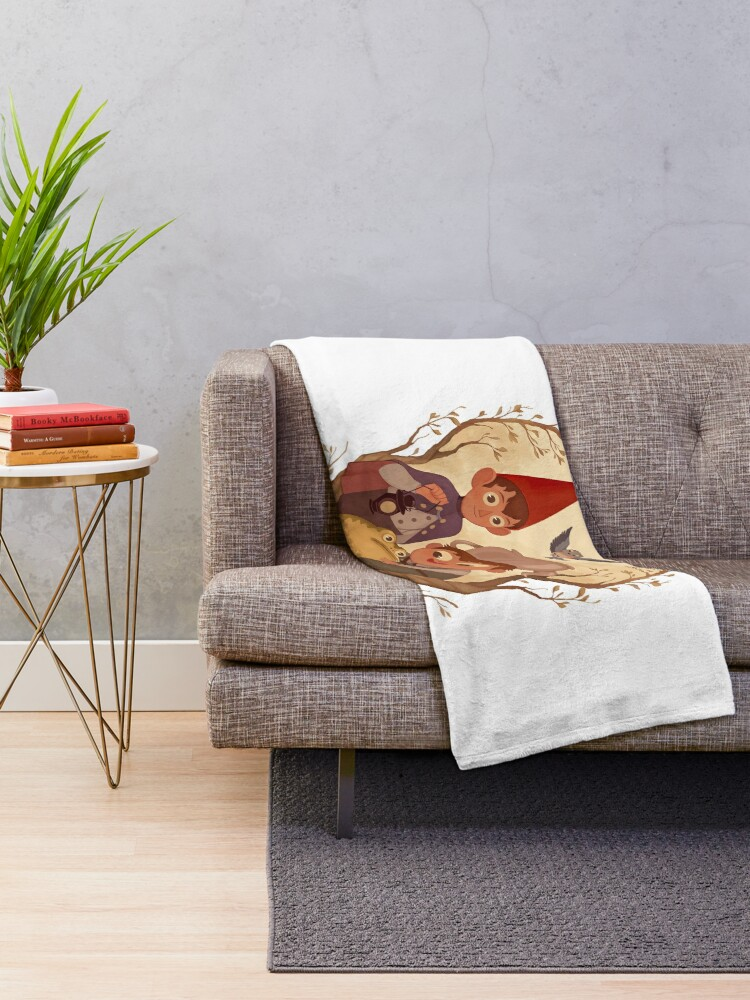 Alternate view of Over the garden wall Throw Blanket