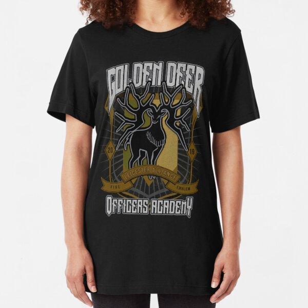 Golden Deer Crest Slim Fit T-Shirt