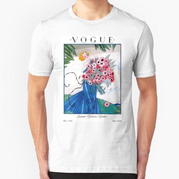 VOGUE : Vintage Spring 1923 Magazine Advertising Print Slim Fit T-Shirt