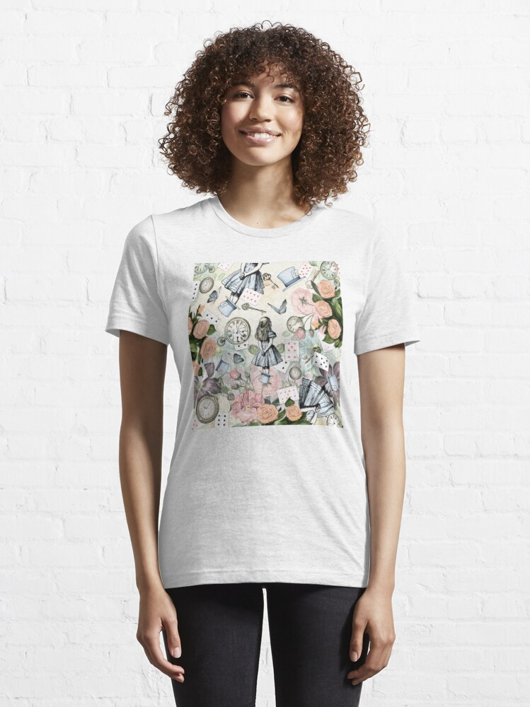 Vista alternativa de Camiseta esencial Alicia en el país de las maravillas Collage