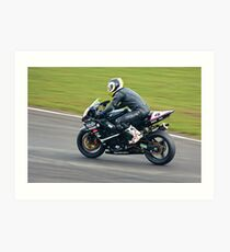 Suzuki GSXR track bike Art Print