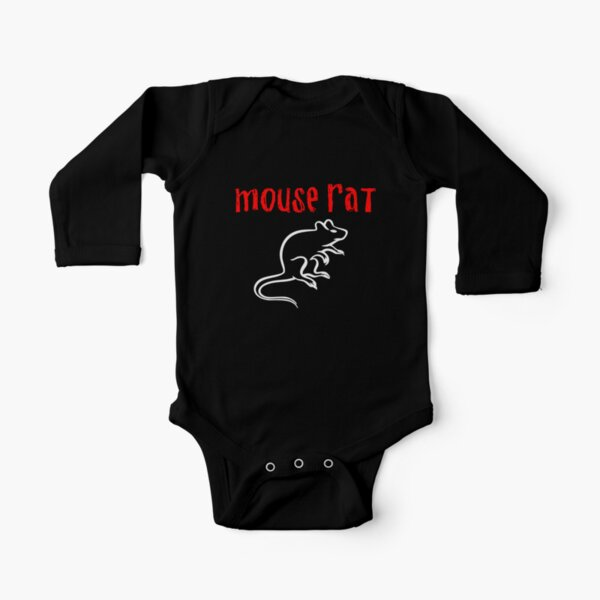 Mouse Rat Long Sleeve Baby One-Piece