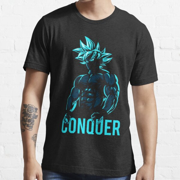 CONQUER - Goku Super Saiyan God Blue Essential T-Shirt