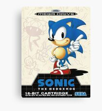Sonic the Hedgehog Mega Drive Cover Canvas Print