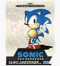 Sonic the Hedgehog Mega Drive Cover Poster