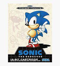 Sonic the Hedgehog Mega Drive Cover Photographic Print