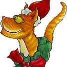 Christmas Cat by Jokertoons