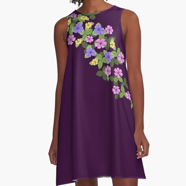 Tumbling Bouquet:  A-Line Dress