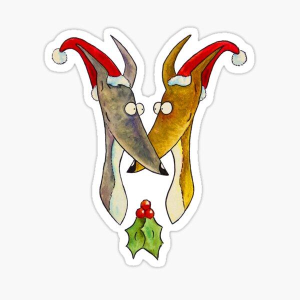 Christmas Love Hounds Sticker