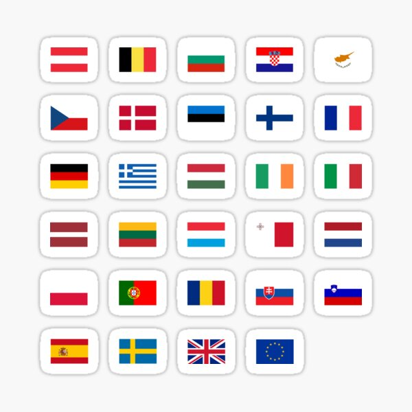European Union Flags Sticker