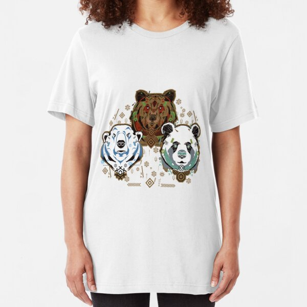 Bear Trio Slim Fit T-Shirt