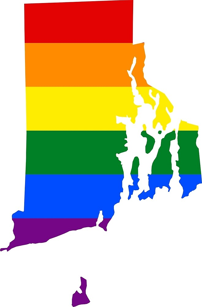 LGBT Flag Map of Rhode Island  by abbeyz71