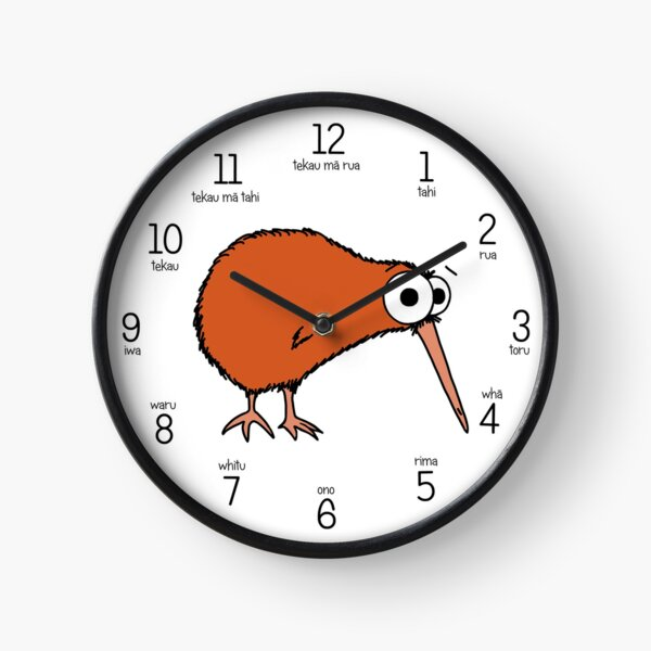 Cutie Kiwi (clock includes Maori numbers) Clock