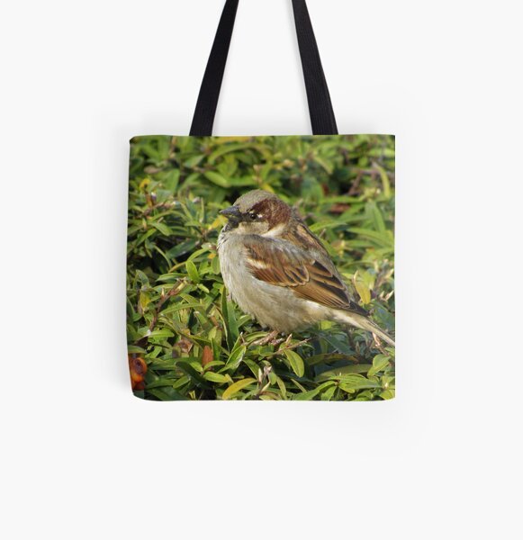 House Sparrow Sideview All Over Print Tote Bag