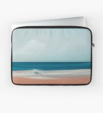 the sea says - abstract beach scenery Laptop Sleeve