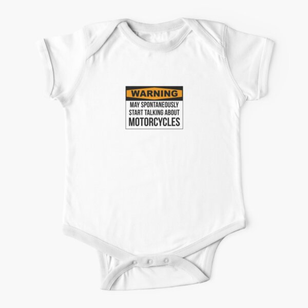 Funny Motorcycle Short Sleeve Baby One-Piece