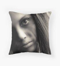 crazy eyes Throw Pillow