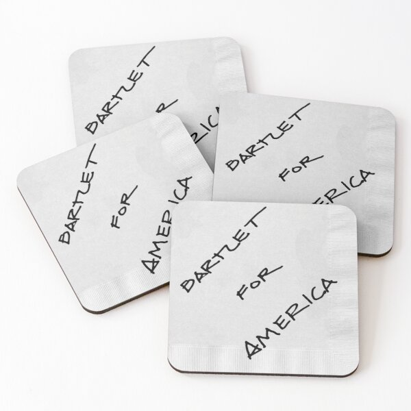 Bartlet For America Coasters (Set of 4)