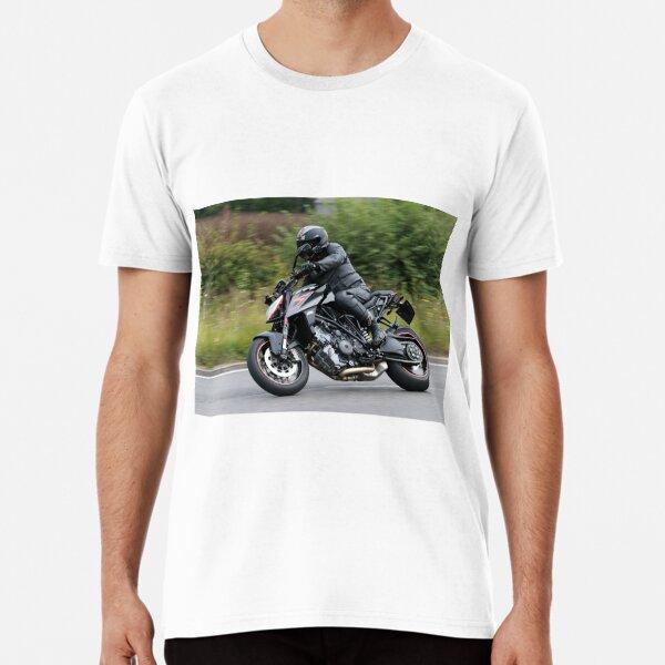 Black Motorbike on bend Premium T-Shirt