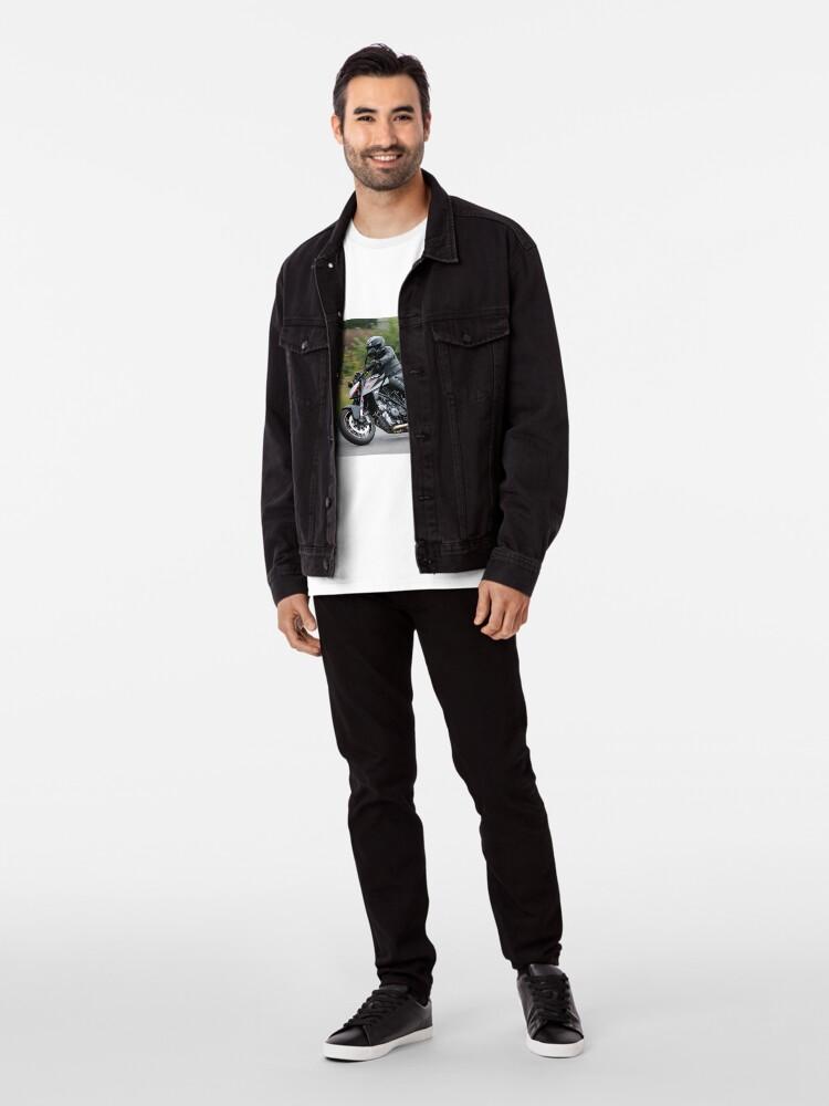 Alternate view of Black Motorbike on bend Premium T-Shirt
