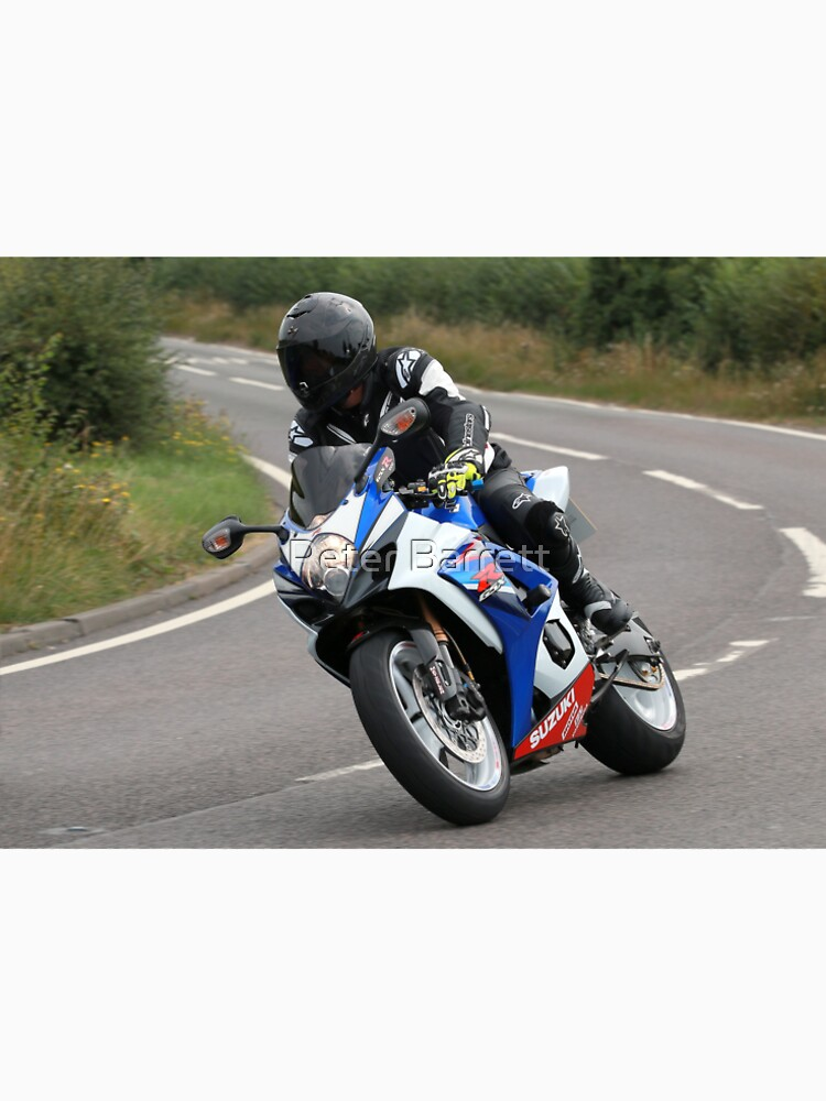 Sports bike traveling at speed on bend by hartrockets