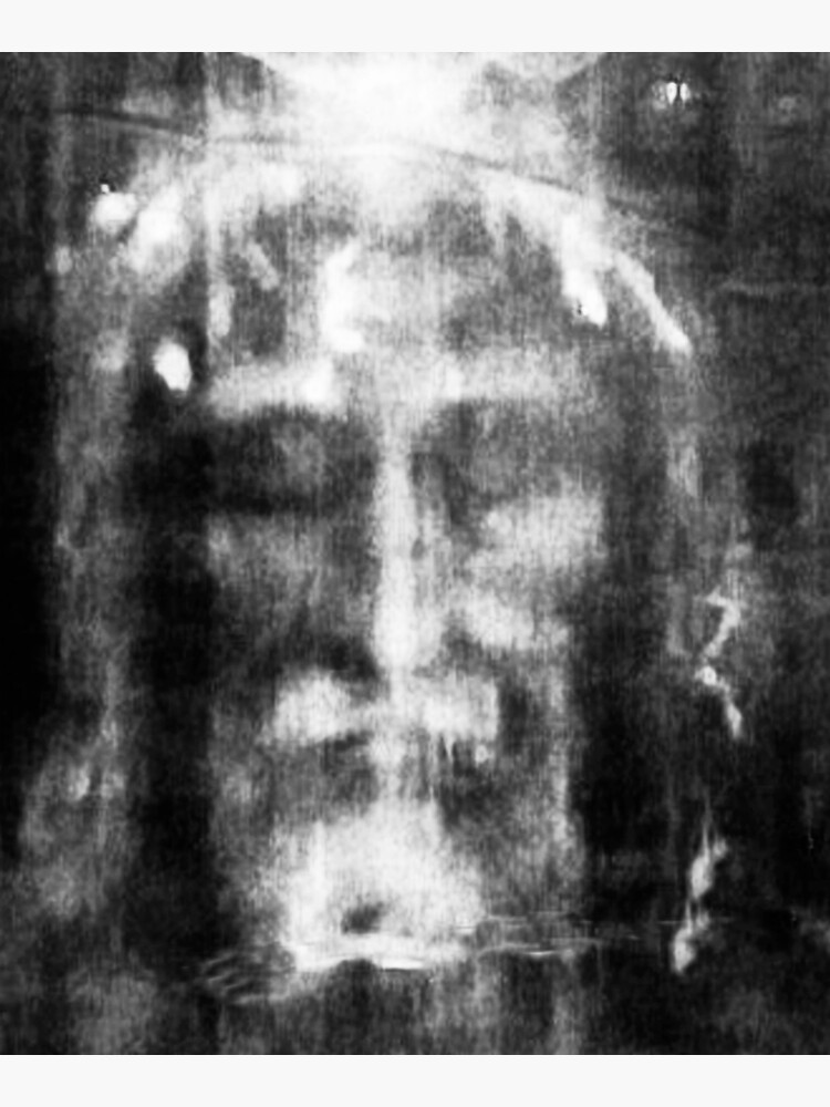 Shroud of Turin. Turin Shroud. Christianity, Christian, Icon, Bible, Biblical, Resurrection. by TOMSREDBUBBLE