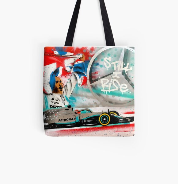Lewis Hamilton - British GP graffit painting by DRAutoArt All Over Print Tote Bag