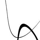 Interlocking Two B   Minimalist Line Abstract by Menega  Sabidussi
