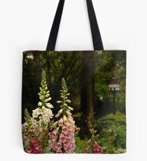 Foxgloves in Cottage Garden Tote Bag