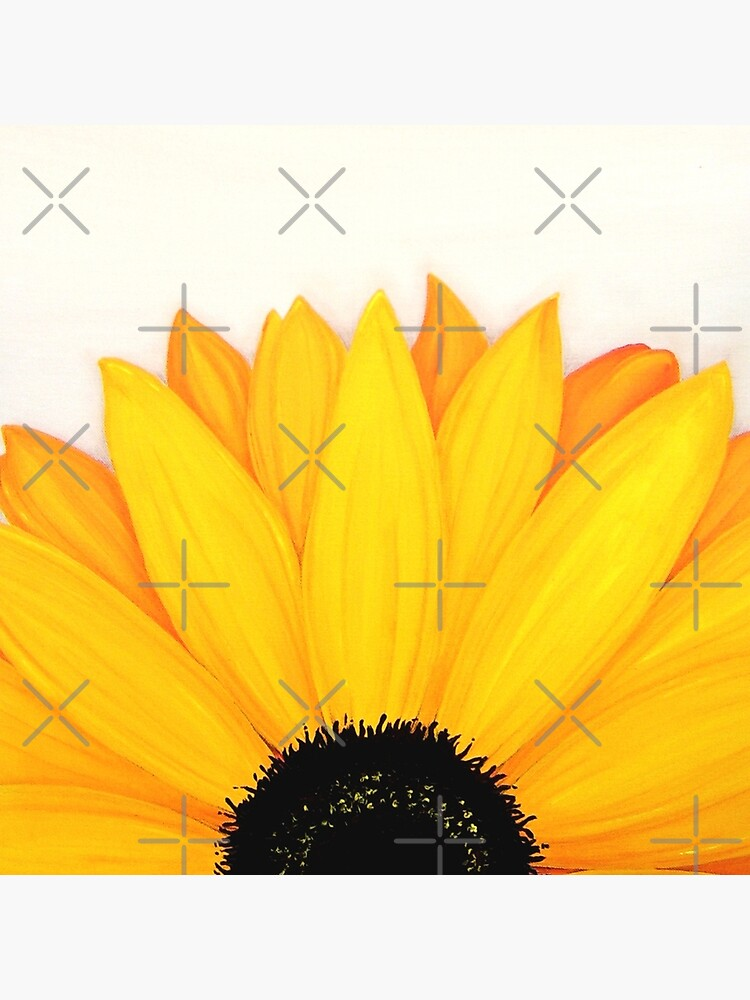 Beautiful Large Yellow Sunflower Painting by CreativeBridge