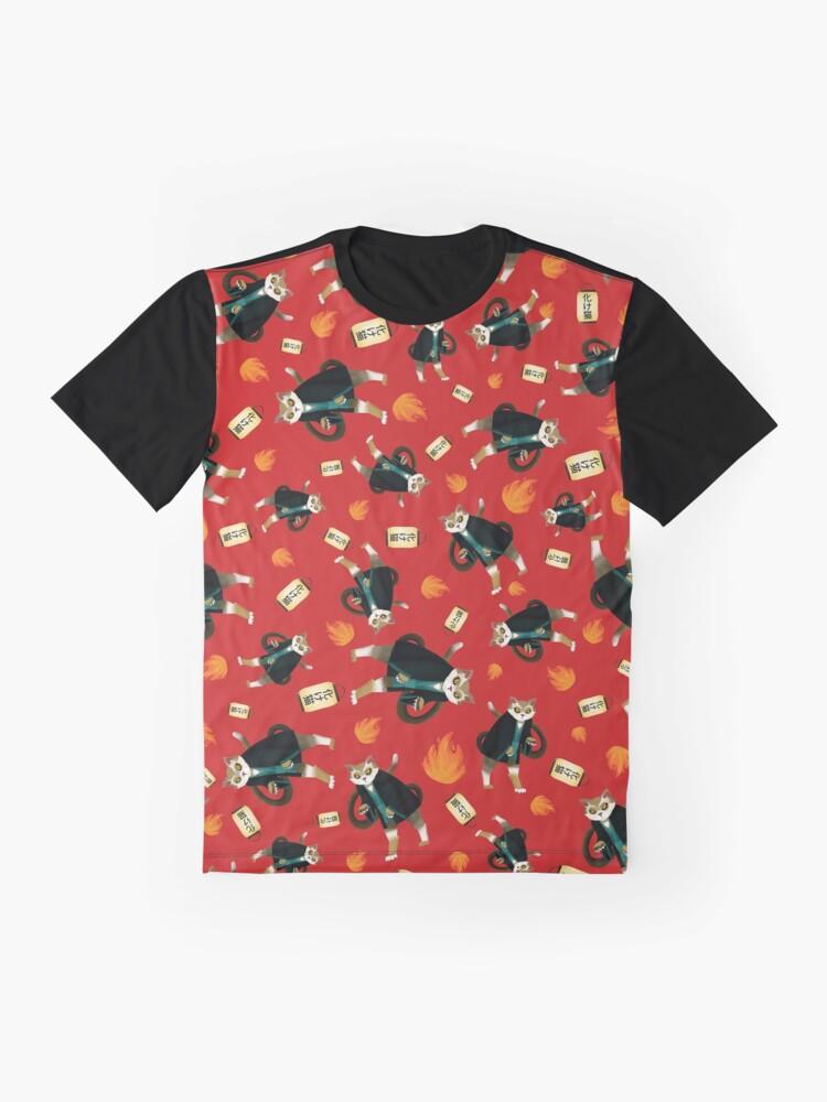 T-shirt graphique ''Bakeneko Chat': autre vue